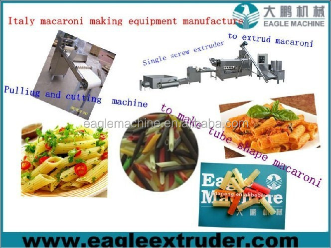 automatic macaroni pasta making machine production line