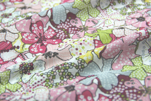 wholesale popular pattern japanese printed cotton fabric for lining in stock