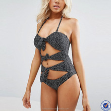 hot hot girl sxe photo brief cut halter neck cut out design swimsuit