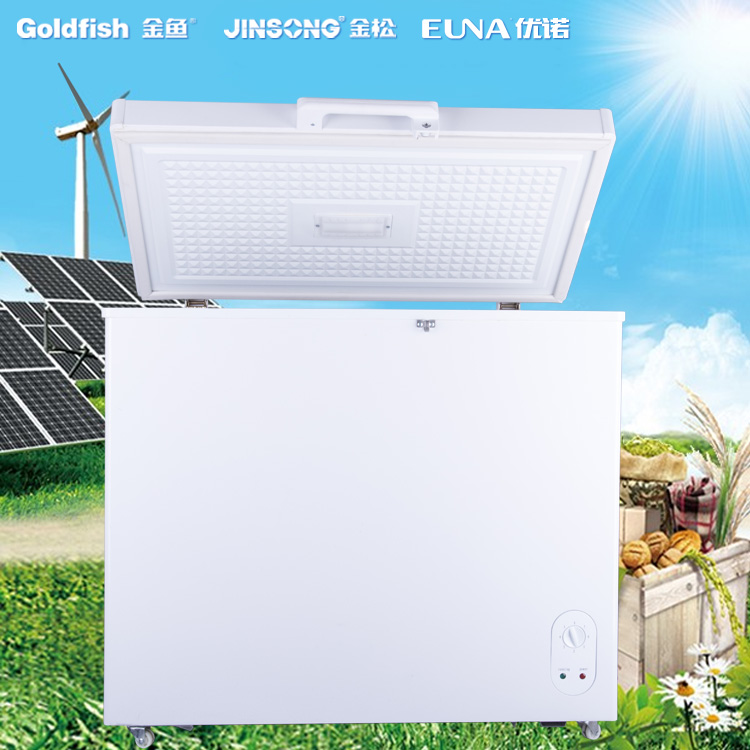 216L Folding Single Door Commercial Solar Chest Freezer