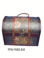 2015 vintage style wooden box with faux leather
