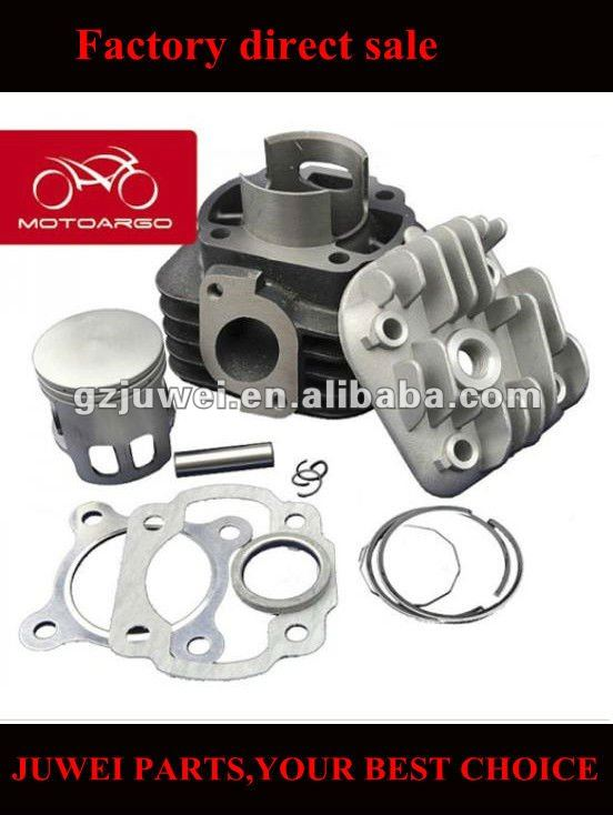 motorcycle cylinder with piston, piston ring, gasket,cylinder head
