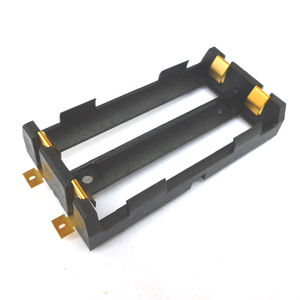 Dual 18650 Lithium-ion Battery Holders 18650 Battery with Bronze Pins