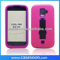 Hybird Rubber Case For LG Coolpad 801E,Combo silicone Case For Coolpad 801e