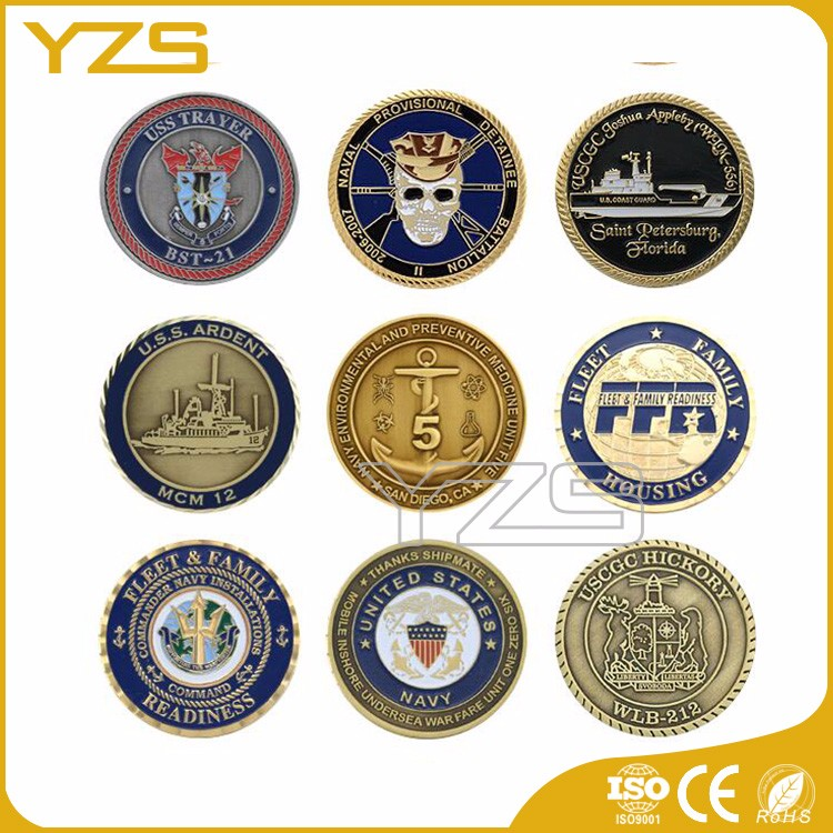 factory Custom metal two side antic coin