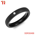 fashion ring women jewelry made in china wholesale with 4mm width CNC stone and surface