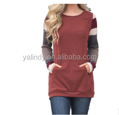 Hot Sale Fashionable Stripe Raglan Women Sweater