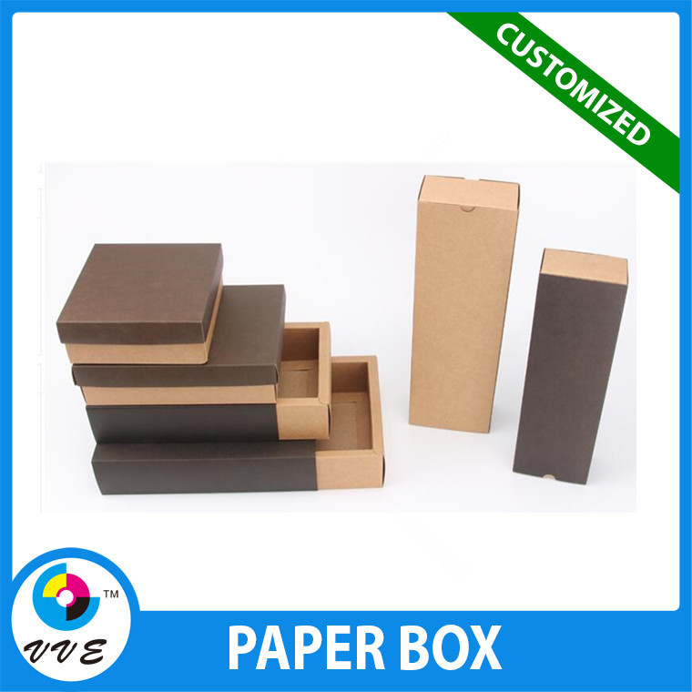 Wholesale supplies high quality paper box packaging kraft