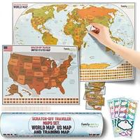 Custom Print Scratch Off World Travel