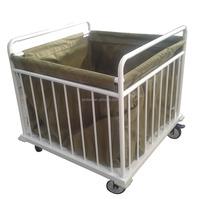 Hospital laundry trolley trash cart/nursing cart with bag