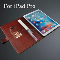 Business Tablet Genuine Leather Case with Wallet Card Holder for iPad Pro
