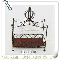 antique metal rectangle dog beds