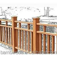 Fancy Wpc Waterproof Deck Stairs Handrail