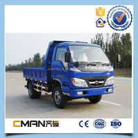 China mini 4wd diesel fuel forland light dump truck 3 ton double axle