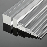 White plastic PMMA Acrylic rod square shape