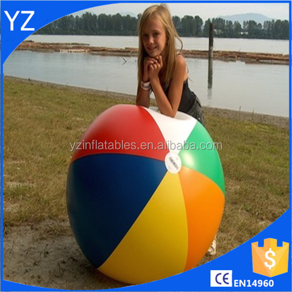 Standard size big toy beach ball with logo printing,wholesale PVC custom inflatable beach ball