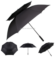 "promotional automatic strong double layer 30"" 8k golf outdoor windproof umbrella"