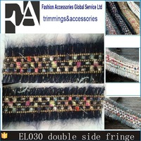 wholesale Fancy Fringe 3cm double scalloped Embroidery french lace for dresses