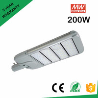 Meanwell driver 130lm /W 200w led street light for street