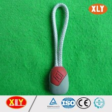 cute rubber two sided OEM welcome zipper puller for bag