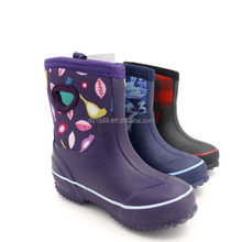 4MM Neoprene Rubber Kids Rain Boots Garden Boots,Waterproof Anti-slip Neoprene Rubber Boots With Hole 3 Colors