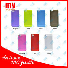 Lot Ultrathin Design 0.5mm Matt Frosting Skins Cases Covers For iPhone 5 Cell Phone Accessories