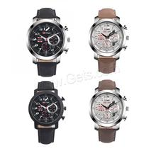 big face watches for men Wrist Watch Leather with Glass & Stainless Steel & Zinc Alloy Life water resistant & for man 1247474