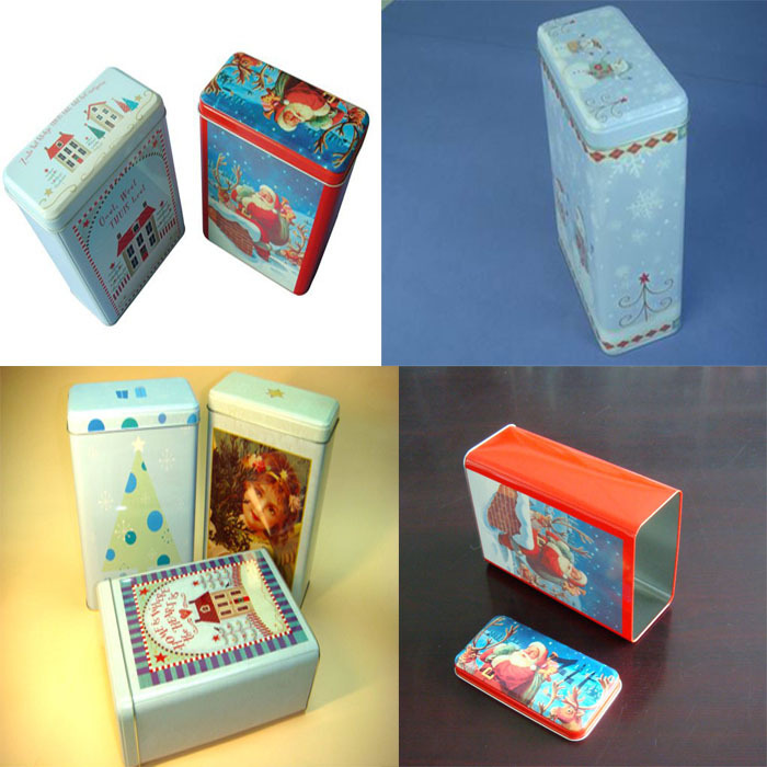 Attractive wholesale custom tin box packaging for rectangular tin box