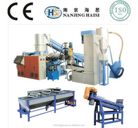 Plastic Pelletizing washing System line/China lowest price Hot sale pp/pe film washing and recycling machine