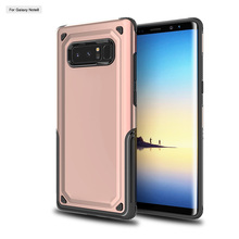 Shockproof Protective TPU Silicon PC Hard Back Phone Case 2 In 1 Cover For Samsung Galaxy Note 8