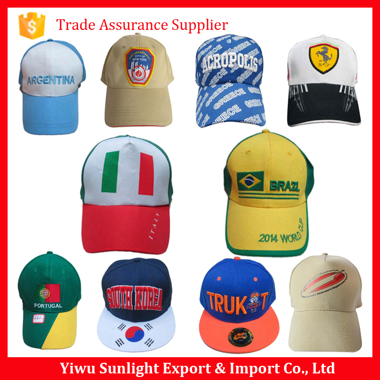 Custom promotional printing or embroidery logo cotton baseball cap