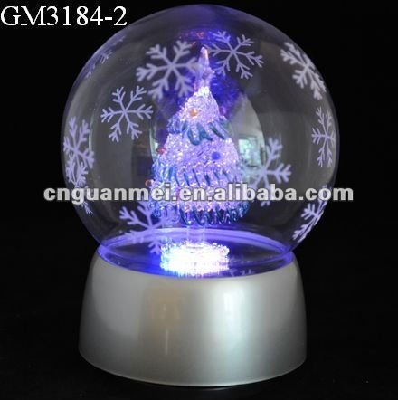 2012 Christmas ball gifts with LED light and music box