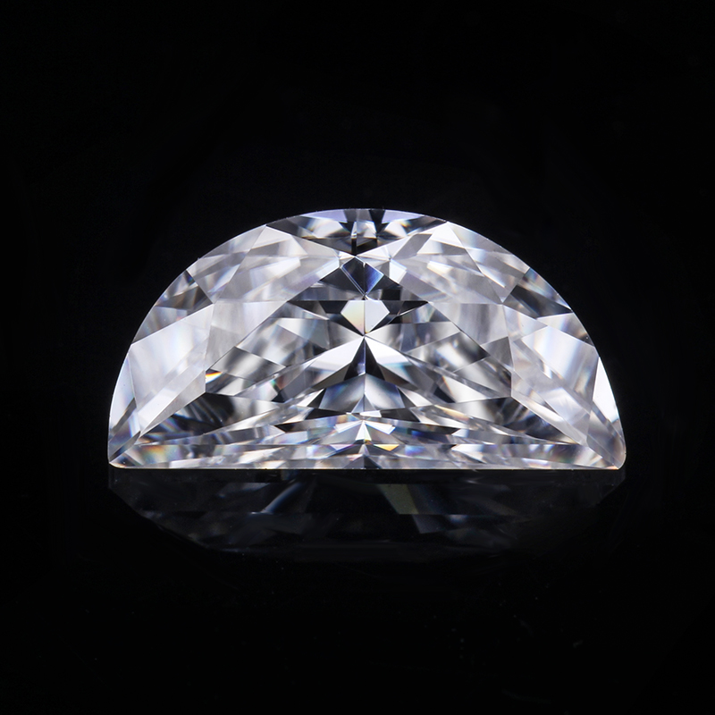12*6mm half moon special cut moissanite EF synthetic diamond jewelry loose stone