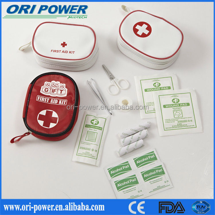 OP manufacture CE FDA ISO approved wholesale mini small promotional gift first aid kit