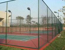 Galvanized Playground basketball tennis court chain link fence netting supplier