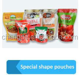 High quality plastic laminated stand up spout pouch bag for sauce packaging