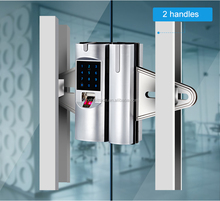 Zinc alloy glass door keypad glass door fingerprint office electronic lock for glass door