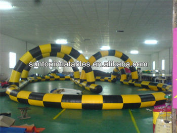 hot sales inflatable race track with customized design