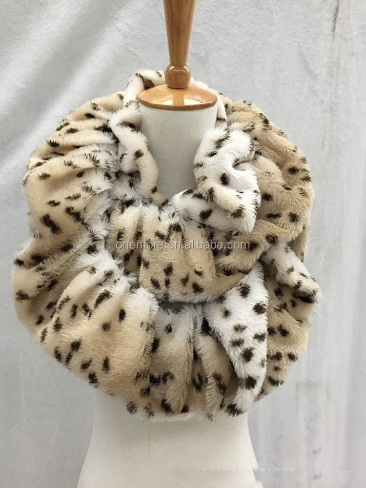 Fashion newest leopard fur faux shawl neckerchief for winter