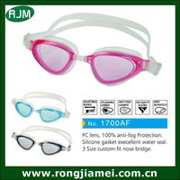 Eye Protection Silicone Lady Swimming Goggles For Watersports
