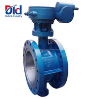 Dimension Manufacturer Flange Type End High Performance Pressure Double Flanged Butterfly Valve