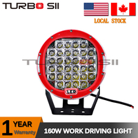 Local Delivery ! 9 Inch 160w LED Off road Light 96w 160W 185w 12 / 24V LED Work Light led bar for Truck, Atv,4x4, 4WD, Boat