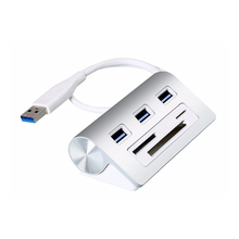 Factory Price 3 Slots Multi in 1 Powered USB 3.0 3 Port Hub with Card Reader Combo