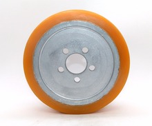5 holes electric forklift PU wheels used for Linde 230*90 polyurethane tread