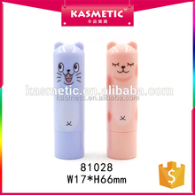 Natural material lip balm tubes with white caps cat printing chapstick tube