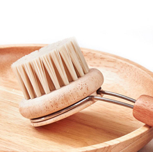 WB200-363 Customized Beech Wood Kitchen Vegetable Fruit Dish <strong>Brush</strong>
