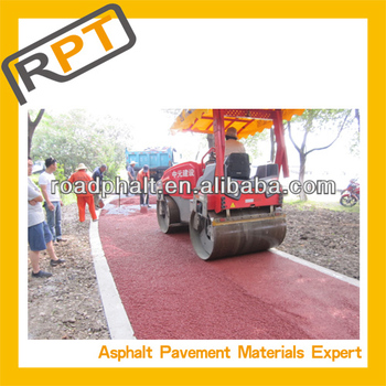 road constuction for cold colored mixture bitumen