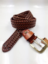 2016 bonded leather braided belt for man
