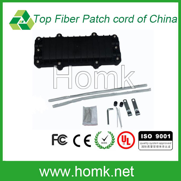 2 in 2 out 12 core horizontal type fiber optic splice closure FTTX cable joint closure for Pole