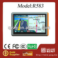 "car gps navigation av-in 5. 0"" LCD Windows CE 6. 0 Media R583 GPS Navigator with TV and Brazil Maps 8GB"